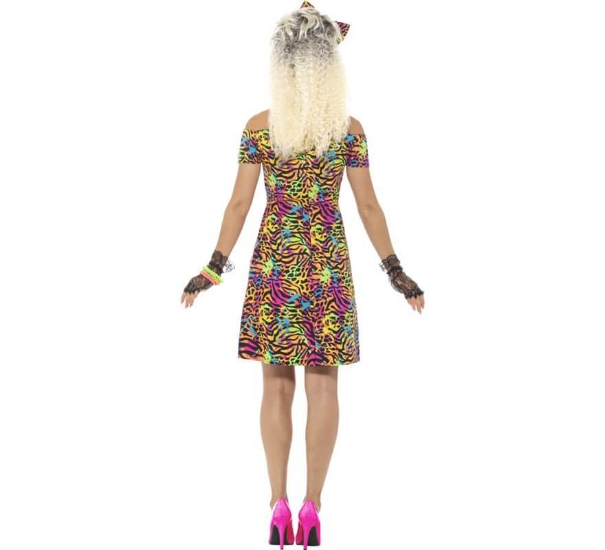 Disfraz de Rockera Años 80 Multicolor para mujer-B