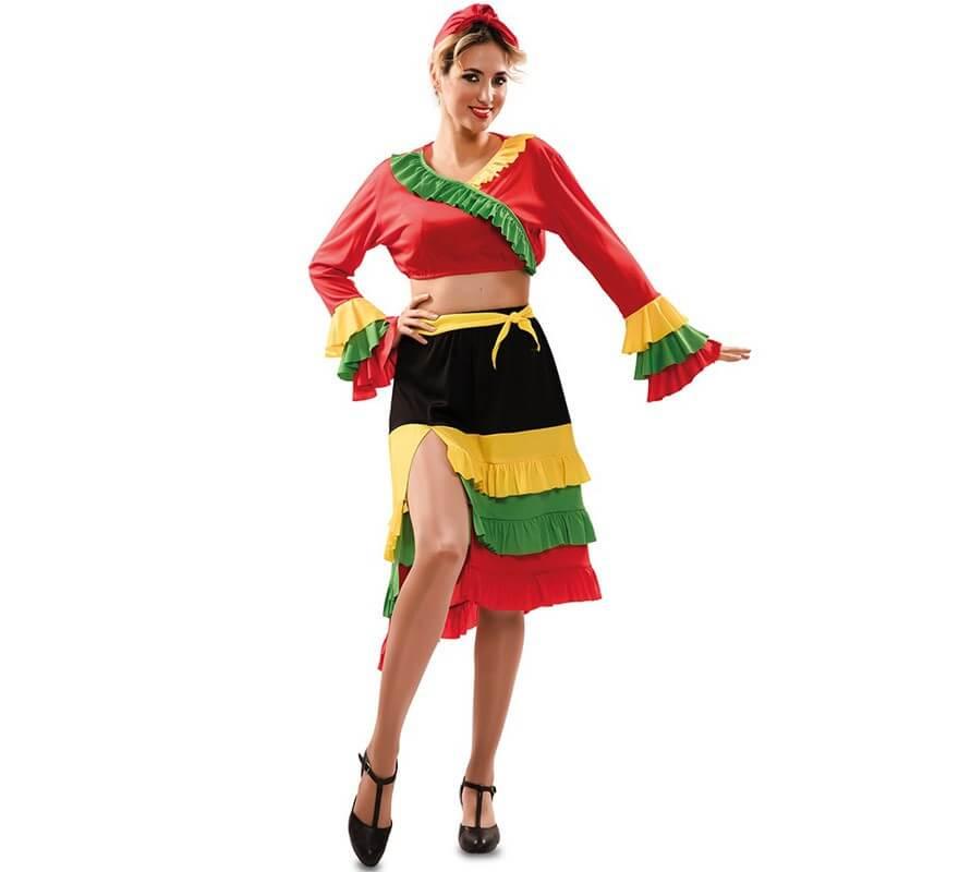 Disfraz de Rumbera Roja para mujer-B