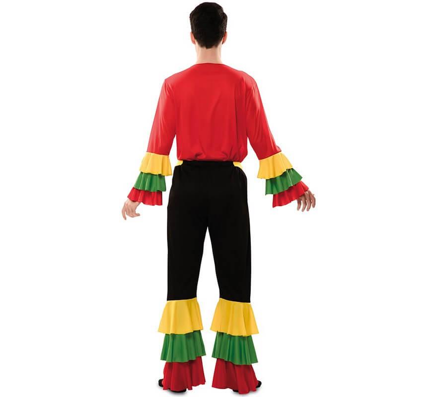 Disfraz de Rumbero Rojo para hombre-B