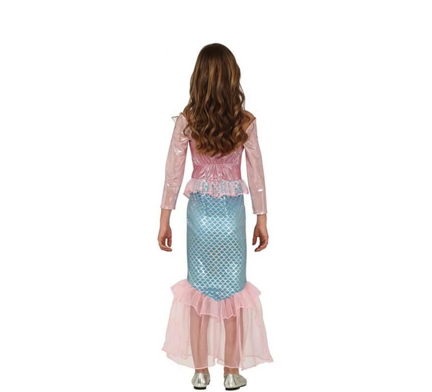 Disfraz de Sirena Rosa para niña-B