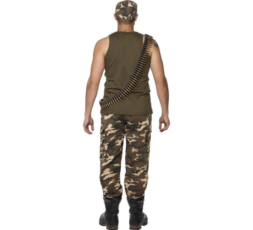 Disfraz de Soldado de Camuflaje para Hombre-B