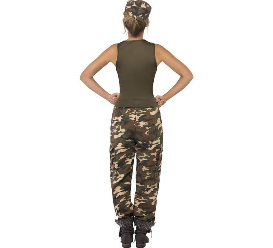 Da Uomo Kaki Mimetico Esercito Soldato Costume Costume Camoflage GUERRA Outfit M L