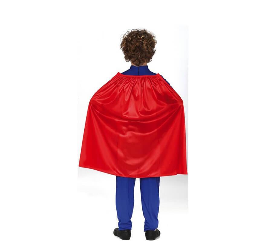 Disfraz de Superhéroe Azul para niños-B