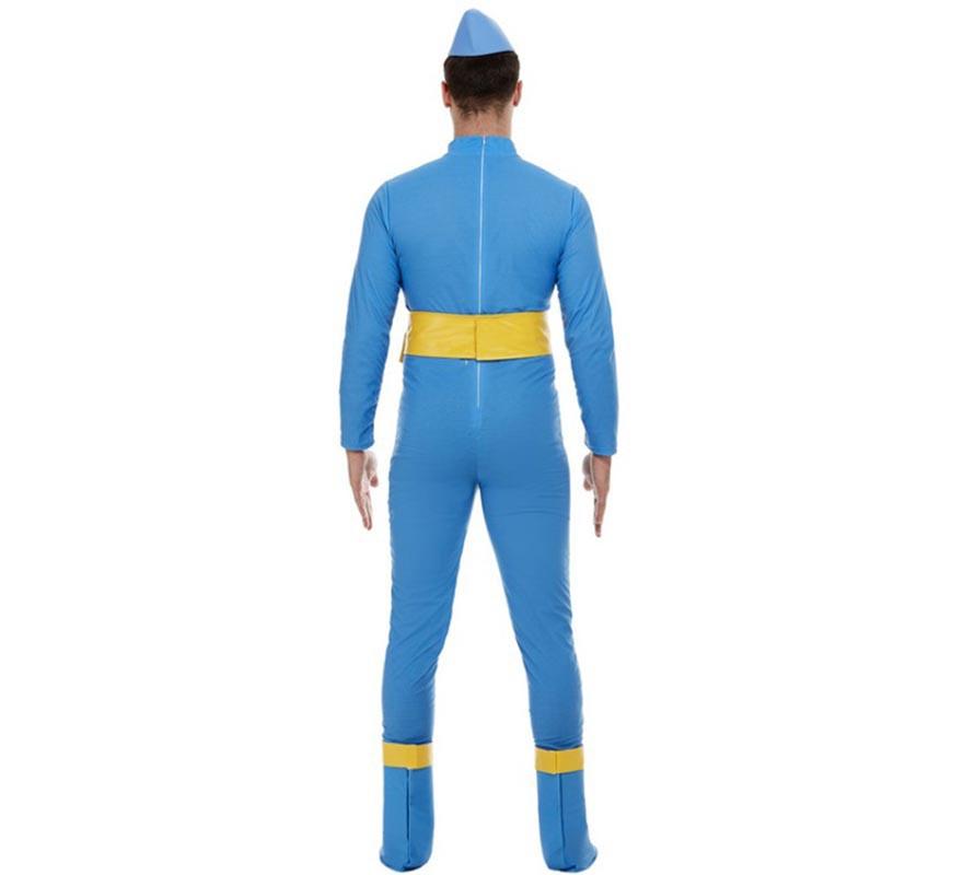 Disfraz de Thunderbirds Scott & Virgil Azul de lujo para hombre-B