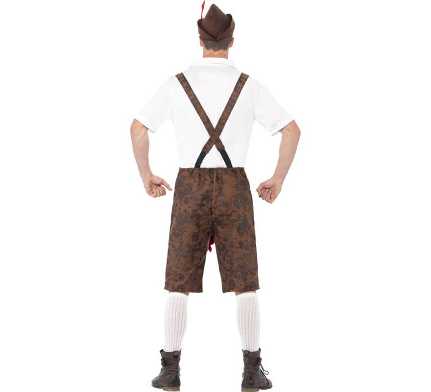 Disfraz de Tirolés Marrón para hombre-B
