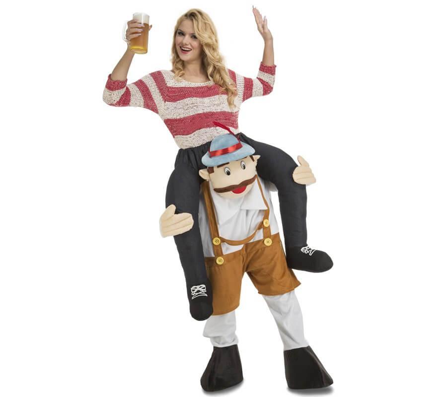 Disfraz de Tirolés Oktoberfest a hombros para adultos-B