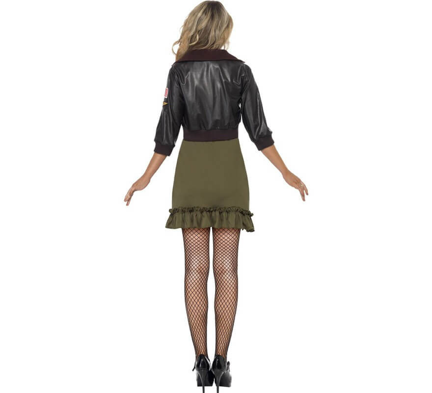 Disfraz de Aviadora con chaqueta sexy para mujer-B