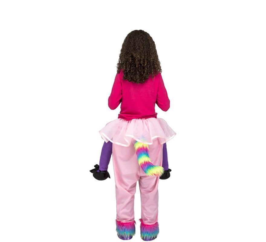 Disfraz de Unicornio Rosa a hombros para niña-B