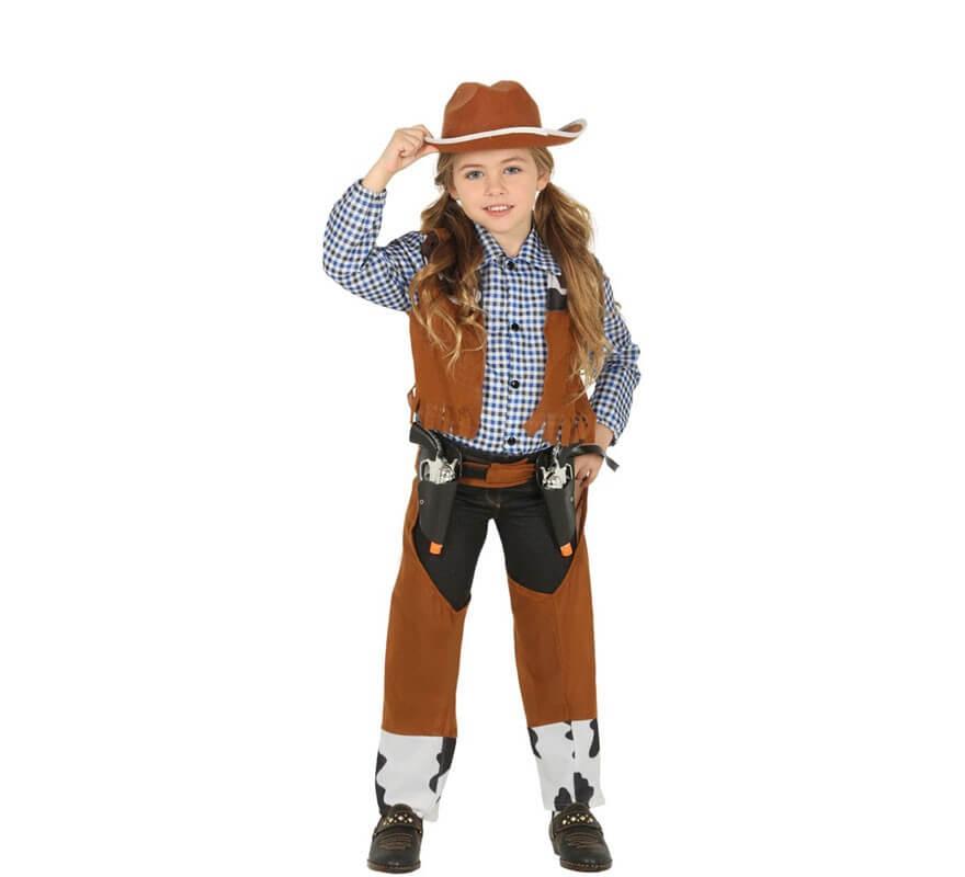 Disfraz de Vaquero con Chaleco para niños-B