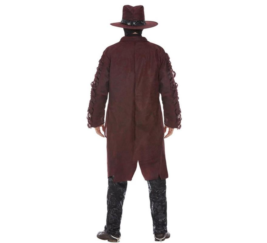 Disfraz de VaqueroBorgoña para hombre-B