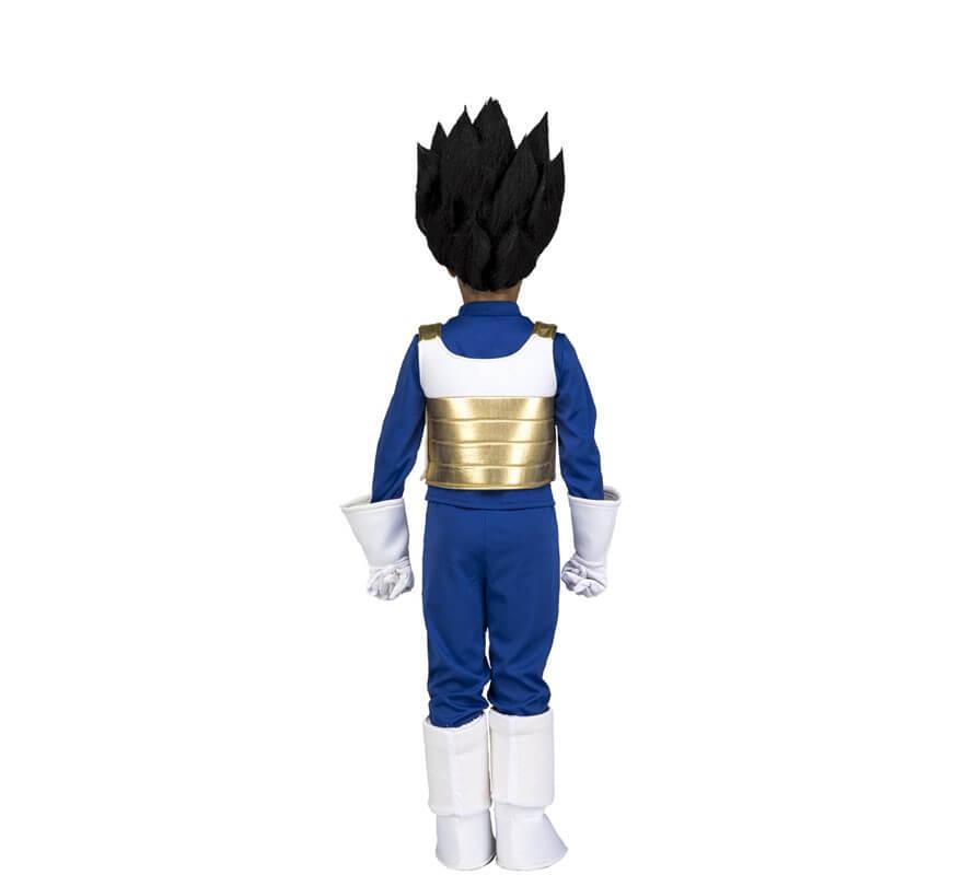 Disfraz de Vegeta de Dragon Ball con peluca para niño-B