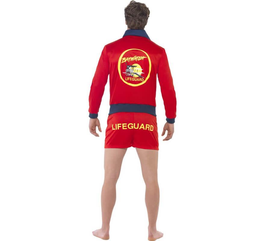 Disfraz de Vigilante de la Playa Corto para hombre-B