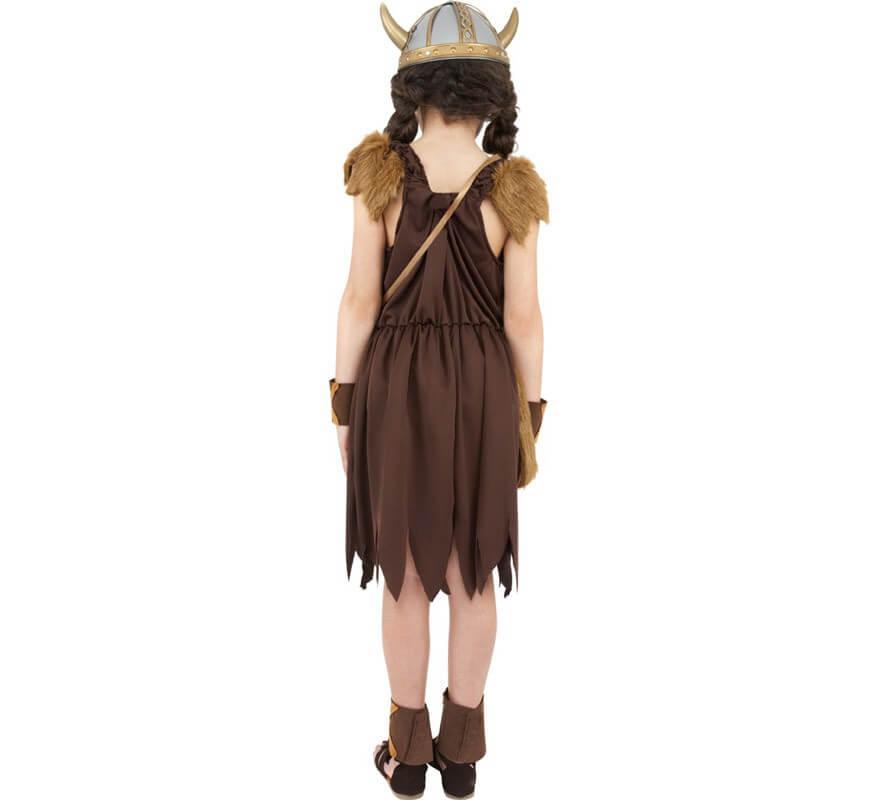 Disfraz de Vikinga o Bárbara para Niña-B