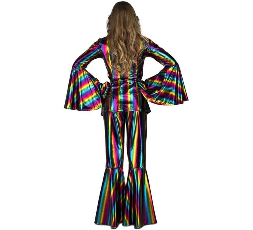 Disfraz Disco Arcoíris acampanado para mujer-B