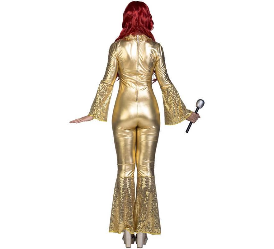 Disfraz Disco Dorado para mujer-B