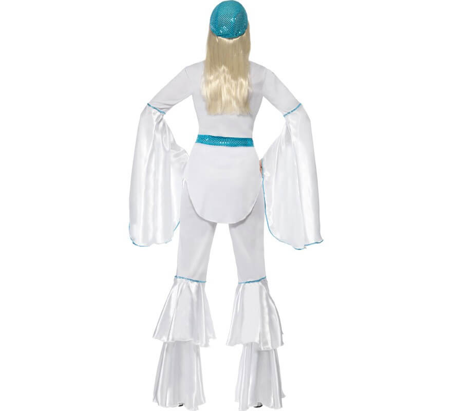 Disfraz Disco Super Trouper Blanco-Azul para Mujer-B
