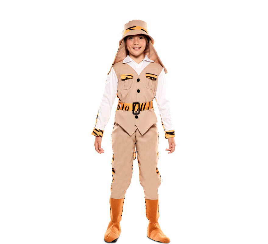 Disfraz Doble de Cazador y Tigre para niños-B