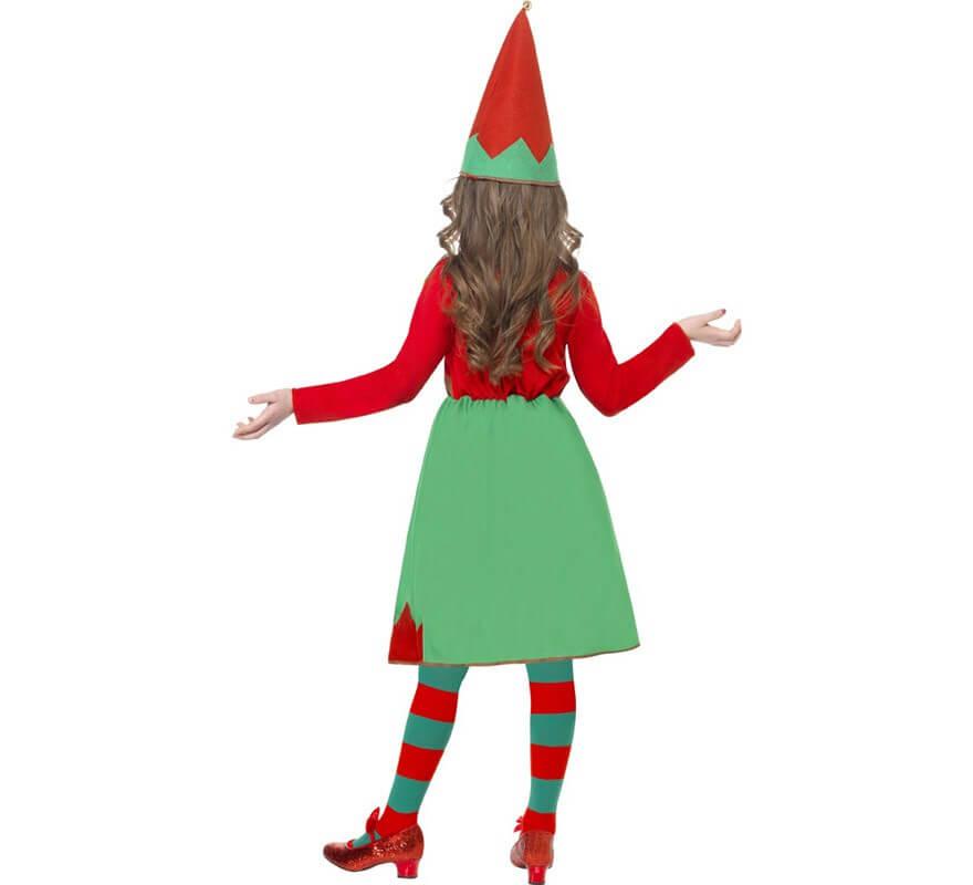 Disfraz Elfa Ayudante de Santa para Niña-B