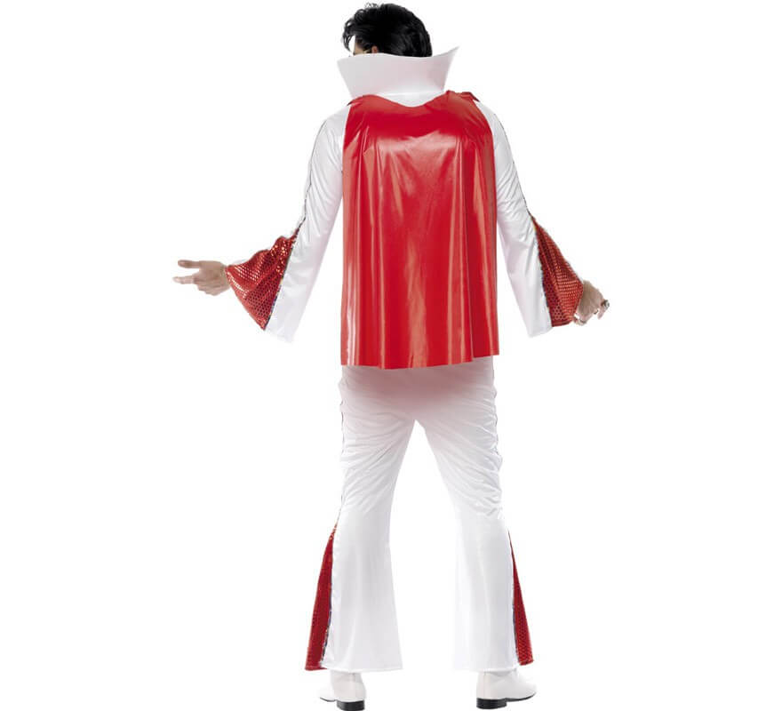 Disfraz Rey del rock auténtico con Capa para Hombre-B