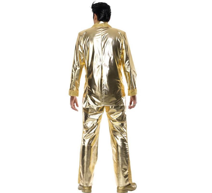 Disfraz Elvis Presley auténtico en Oro para Hombre-B