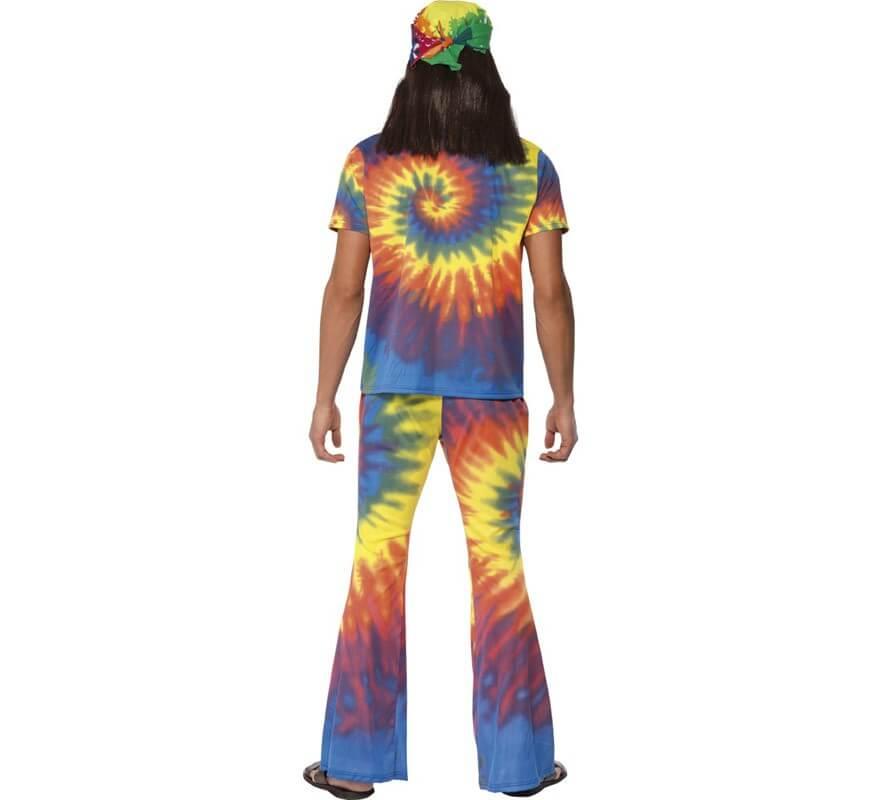 Disfraz Hippy Multicolor Tinte con Nudos para Hombre-B