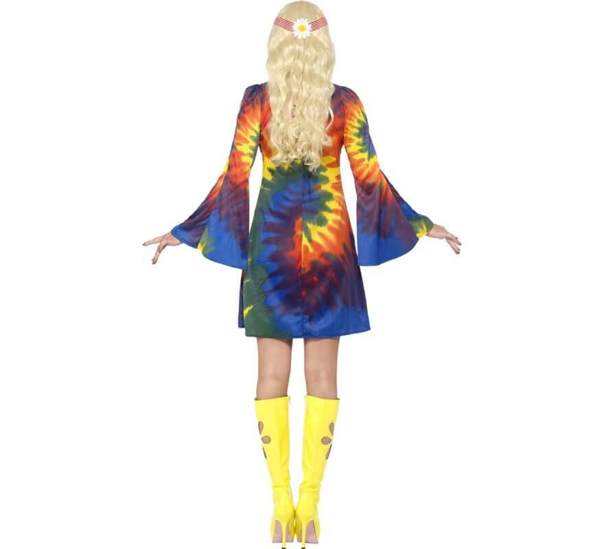 Disfraz Hippy Multicolor Tinte con Nudos para Mujer-B