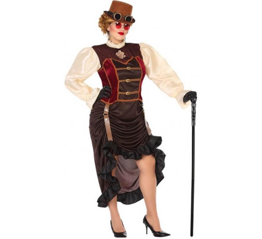 Disfraz Marrón Steampunk para mujer-B