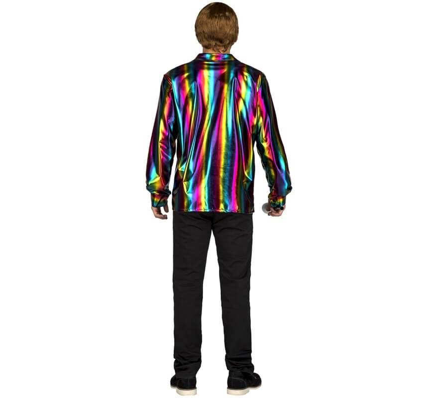 Disfraz o Camisa Disco multicolor para hombre-B