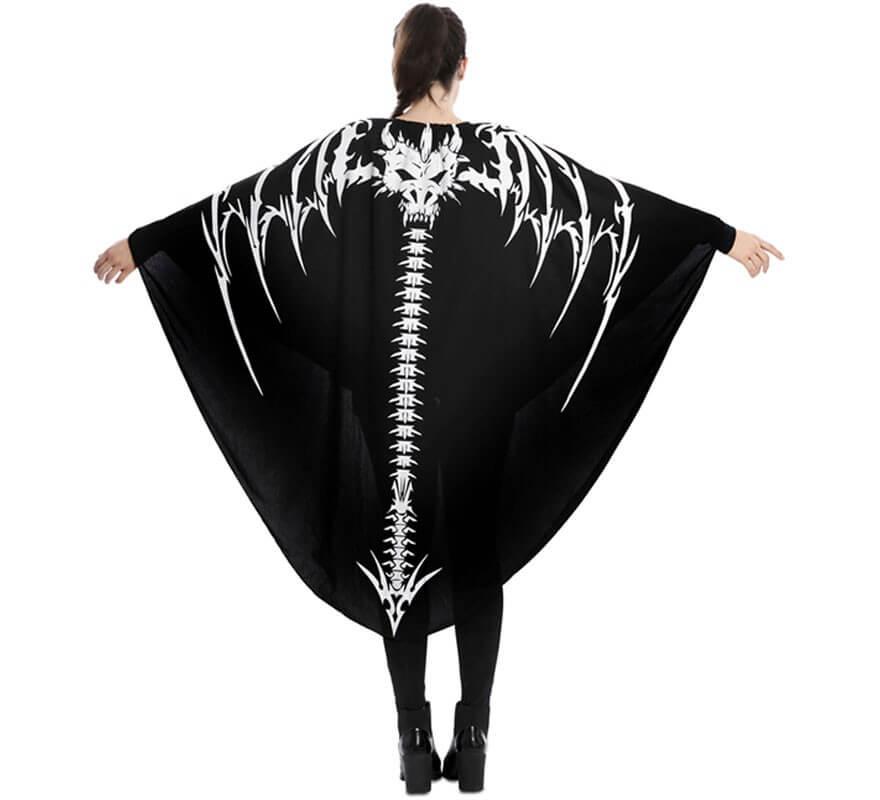 Disfraz o Capa de Esqueleto de Dragón para adultos-B