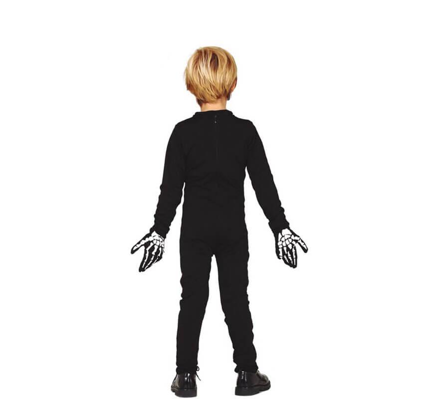Disfraz o Mono de Esqueleto Naranja para niña-B