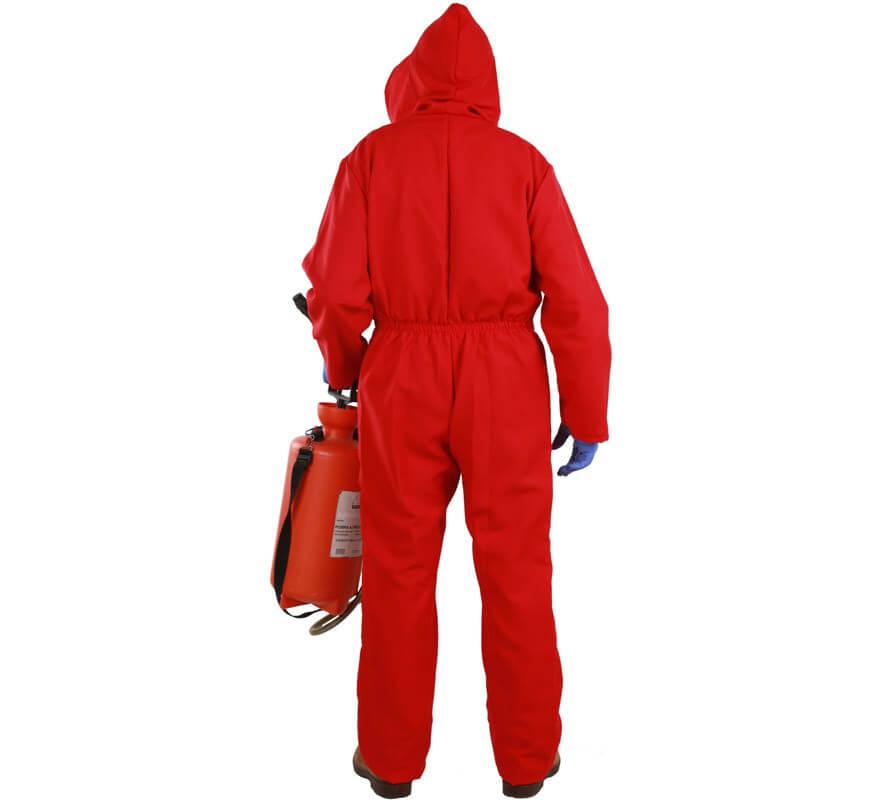 Disfraz o Mono rojo de Fumigador para adultos-B