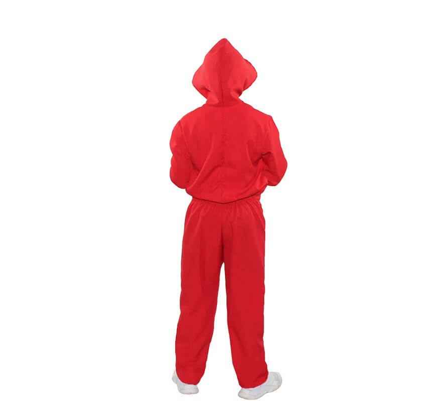 Disfraz o Mono rojo de Ladrón de Bancos para niños-B
