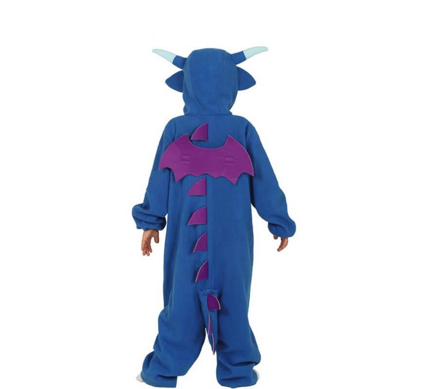 Disfraz Pijama de Dragón Azul para niños-B