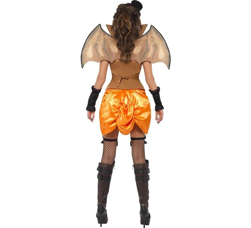 Disfraz Vampira Steampunk Murciélago para Mujer talla M-B