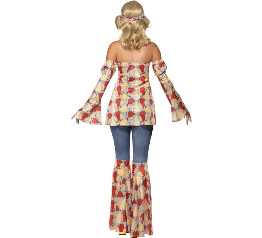 Disfraz Vintage Hippy de los 70s para Mujer-B