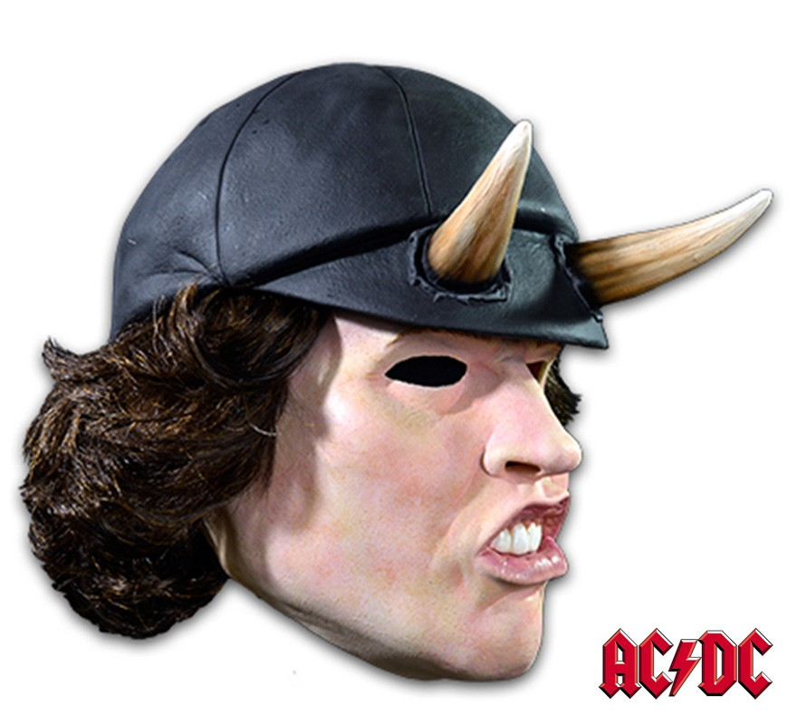 masque de angus young de ac dc en latex halloween. Black Bedroom Furniture Sets. Home Design Ideas