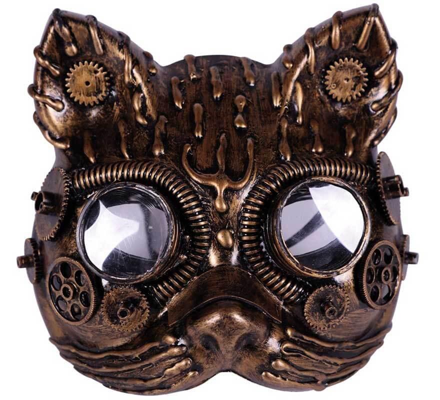 Máscara de Gata Steampunk-B