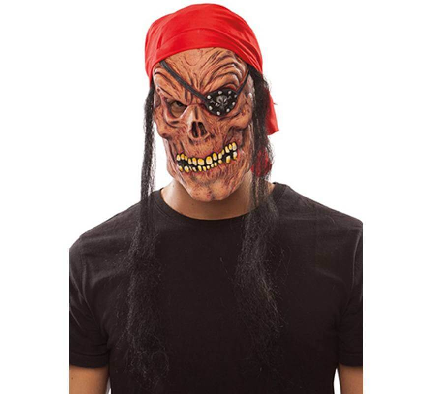 Máscara de Pirata Zombie con Pañuelo-B