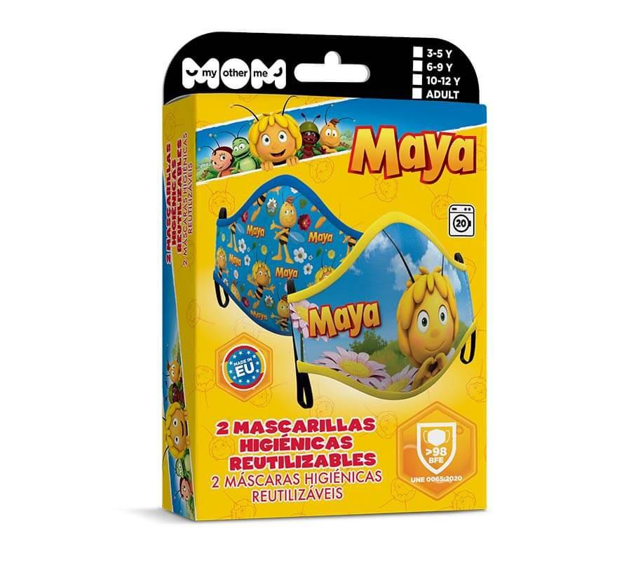 Mascarilla higiénica infantil La Abeja Maya Pack de 2-B