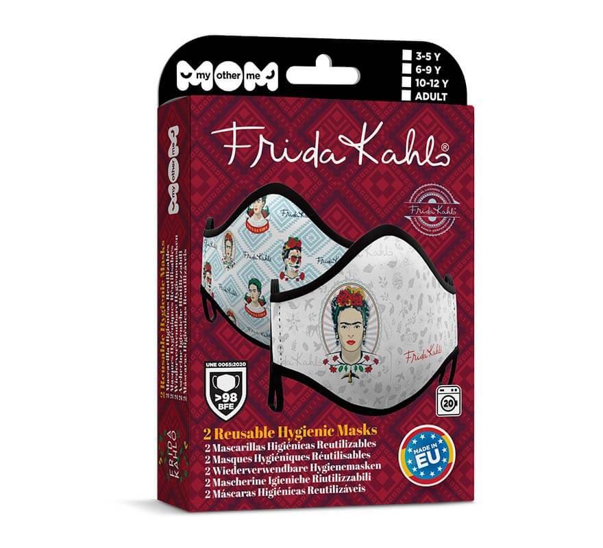 Mascarilla higiénica para adultos Frida Kalho Pack de 2-B