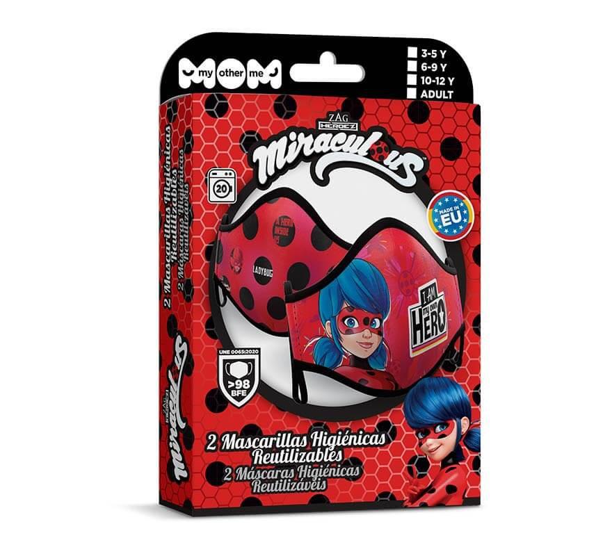 Mascarilla higiénica para adultos Ladybug Pack de 2-B