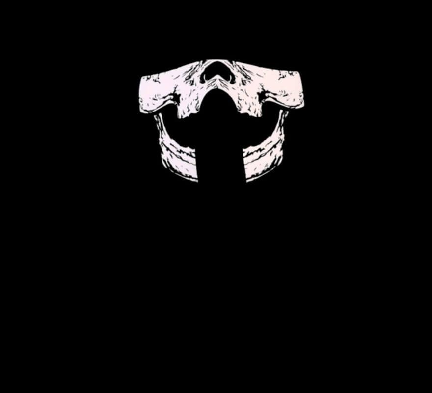 Media Careta de Esqueleto iluminación LED-B
