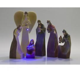 Belén Protección Divina de 7 figuras con luz