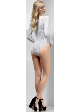 Body Blanco con Transparencias para mujer