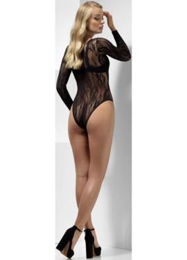 Body Negro con Transparencias para mujer