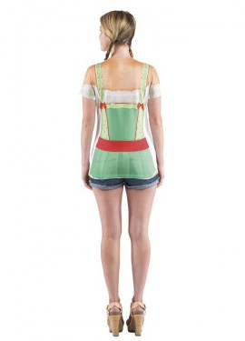 Camisa de Tirolesa Oktoberfest Deluxe para mujer