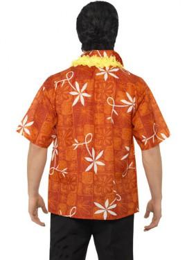 Camisa Hawiana de Elvis con Collar para Hombre