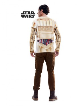 Camiseta disfraz C-3PO de Star Wars para hombre
