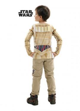 Camiseta disfraz C-3PO de Star Wars para niño