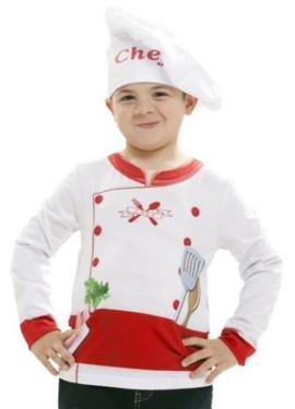 Camiseta disfraz Cocinero o Cocinera para niños